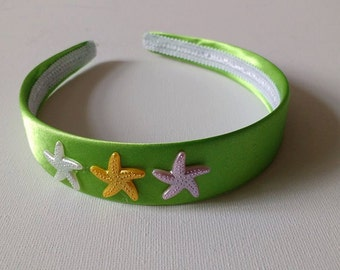 Green Starfish Alice band.