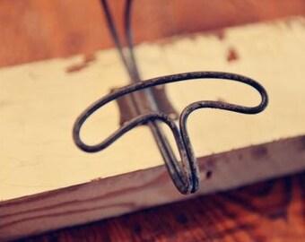 Farmhouse Wire Hooks|Industrial Coat Hooks|Towel Hooks|Rustic Hooks|Black Metal Hook