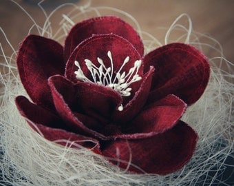 Handmade Fabric Flower Hairclip