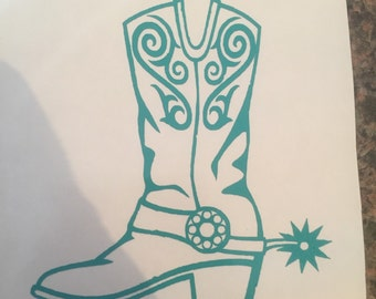 Cowgirl/Cowboy Boot decal
