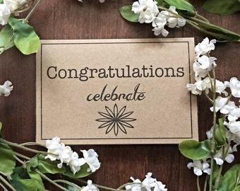 Congratulations-Celebrate -Note Card can only be purchased with a frame order from Kissel Ave