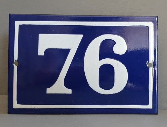 Old french enamel house number sign door street address gate for Classic house numbers