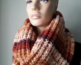 EXPRESS SHIPPING!Hand-Knitted Winter Scarf/infinity scarf/Woman Scarf/Winter Accessories/ReyyanCrochet