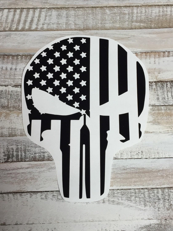 Car body sticker design eps - Punisher Decal American Flag Merica Yeti Decal Car Decal Window Decal Cup Decal Sticker