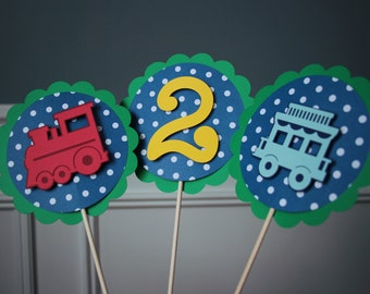 Train Birthday Party Centerpiece