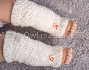 Personalized Baby Gift Baby Leg Warmers Newborn Prop Baby Photo Prop Hand knit Infant Leg Warmers Baby Girl  Baby Boy UK seller