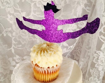 Dancer Cupcake Topper - Dancing - Dance Team - Dance Decorations - Dance Party - Celebration - Cheerleading - Customized - Set of 10 - Girl