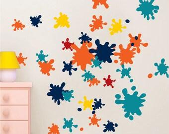 Ink Splash Decals, Ink Splash Wall Murals, Kids Bedroom Ink Adhesive, Ink Splash Design, Ink Splash Wall Decor, Ink Splash Wall Mural, d30