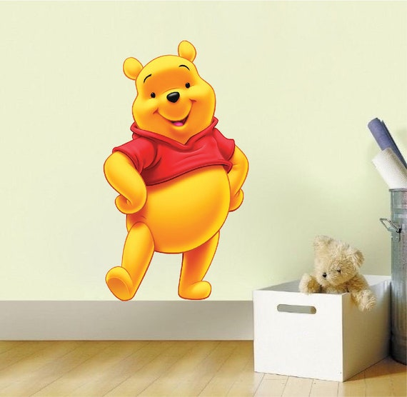 Winnie the pooh bedroom decal sticker mural decor pooh bear for Winnie the pooh bedroom designs