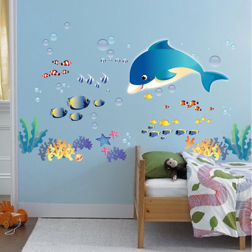 fish decals sea wall stickers under the sea wall by primedecal under the sea wall sticker by mirrorin
