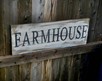Wood Farm House Sign   Wooden Farm House Sign   Country Kitchen Sign   Farm  House