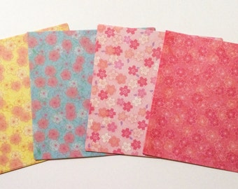 60 Sheets of Reversible Sakura Paper from Japan - For Origami and Other Crafts