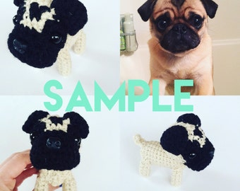 Custom Puppy Amigurumi Pet Twin