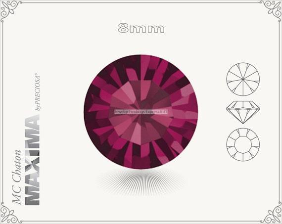 6 pc.+ SS39 (8mm) Preciosa MC Chaton MAXIMA - Ruby Color