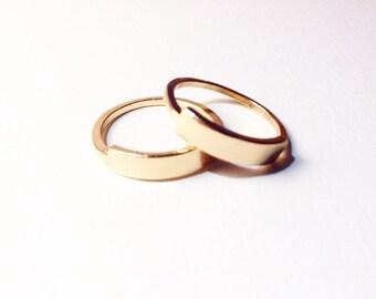 Minimal Gold Bar Ring