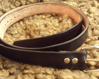 Hand Cut Medieval Leather Belt - 12 inch Drape without Spots