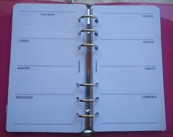 Weekend planner refill Refill with perpetual week on two pages without date personal/medium