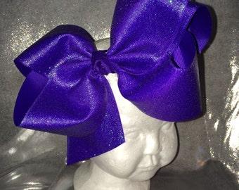 Xl Purple Glitter Bow