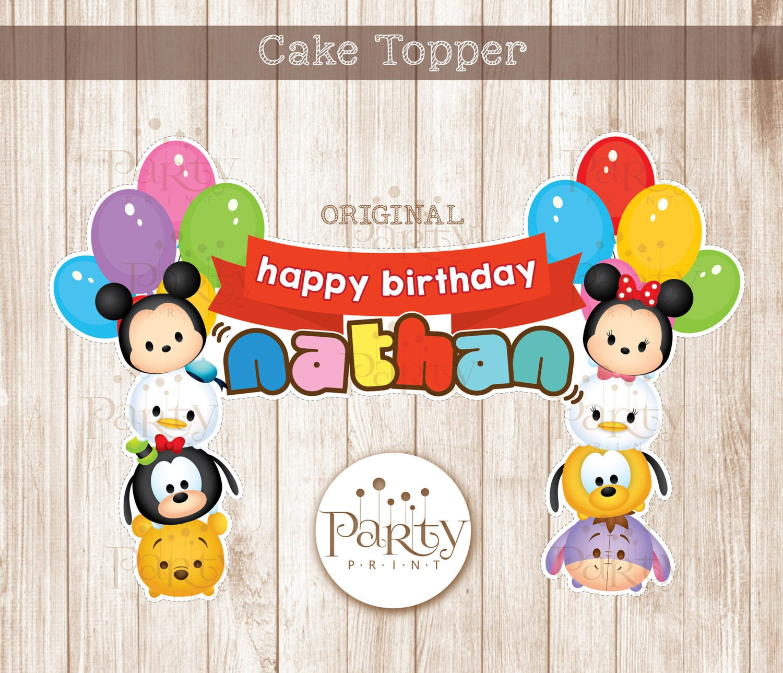 PrintItYourself Digital Copy Tsum Tsum Inspired Cake