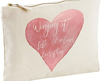 Winging It - Life Eyeliner Everything Cosmetic Bag
