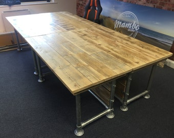 Scaffold plank urban industrial desks 5ft x 2ft 6 inches work stations