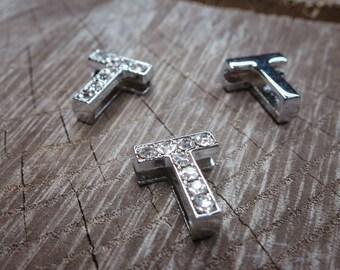 Letter T Slot Charms ~1 pieces #100632