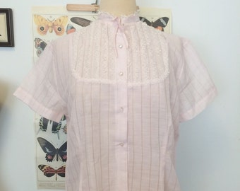 1940s - 1950s - 1960s pink blouse