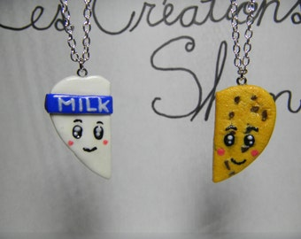 Milk and biscuit friendship necklace