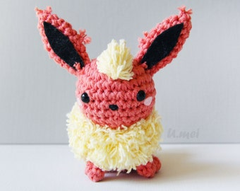Flareon Amigurumi/Crocheted Toy