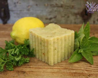 Handmade Lemon Dish Soap, all natural, vegan, handcrafted, kitchen
