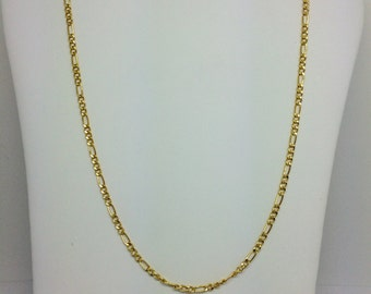 14K Solid Yellow Gold Figaro Chain