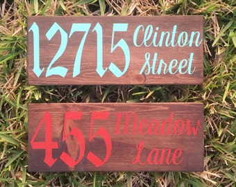 Address Sign // Custom Address Sign // Address Plaque // Custom Hand Painted Address Sign // Front Door Sign // Porch Sign