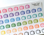 Television/TV Planner Stickers