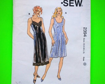 "Full SLIPS, Size XS-S-M-L, Bust 31 1/2"" to 41 1/2"", Kwik Sew 2394."