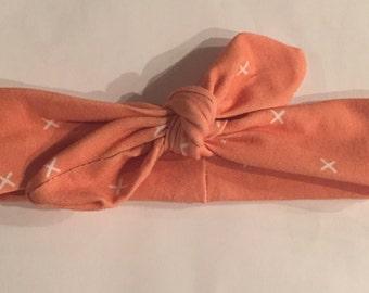 Coral Cross Headband