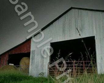 8x10 Inch Artistic Photography Print - Barn with a Stormy Sky