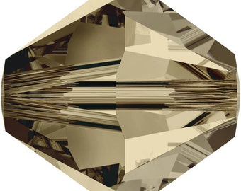 Swarovski Crystal Bicone Beads 5328 -3mm 4mm 6mm - Smokey Quartz