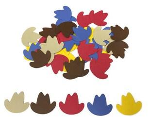 100 Assorted Cowboy hat Confetti, Die Cut, Baby Shower, Cowboy theme Party, Cowboy Décor, Baby boy, Cowboy Birthday Party, Western theme