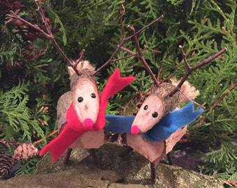 Wooden Reindeer, Rudolph, Christmas