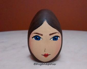 Hand Painted Wooden Egg, Persian, Norooz eggs, Persian New Year, Nowruz eggs, Iranian new year haft sin, haft seen, haftsin, norooz egg iran