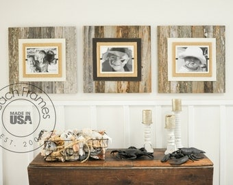 Reclaimed Wood Picture Frame - 8 x 10 picture BROWN