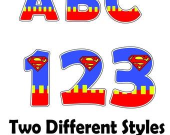 Superman Font / Superhero font / Superhero letters / superman decor / superman wall art