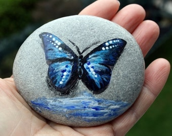 Nº64-painted pebble, hand painted stone, painted rock, painted stone, painted pebbles, piedras pintadas,