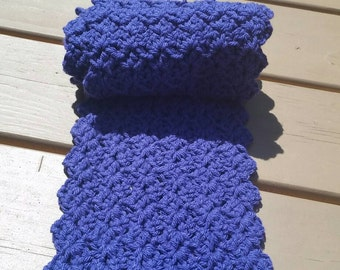 Eggplant scalloped scarf