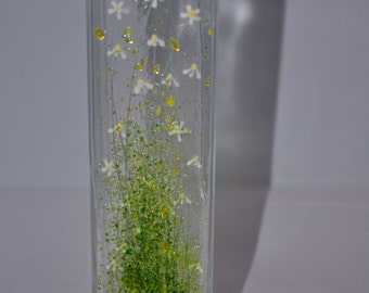 Handmade Fused Glass Art - Daisy Vase