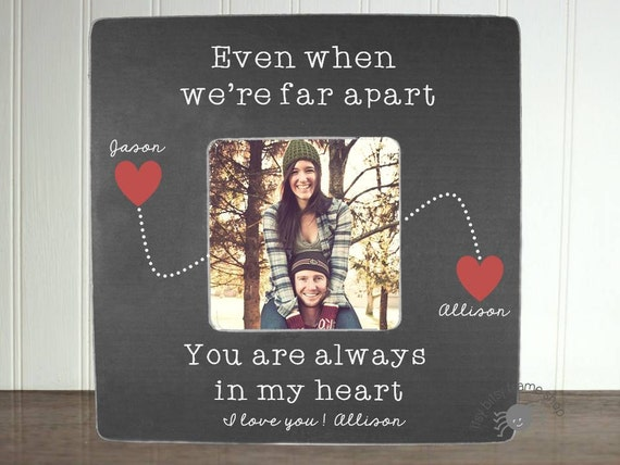 Personalized Boyfriend Picture Frame Long Distance