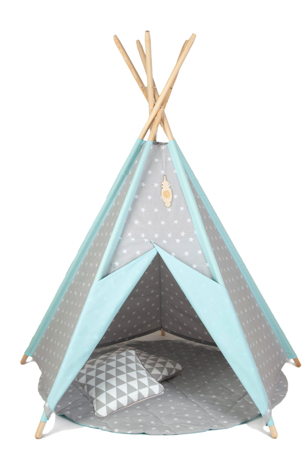 teepee set teepee with 5 poles plywood by teepeelittlenomad. Black Bedroom Furniture Sets. Home Design Ideas