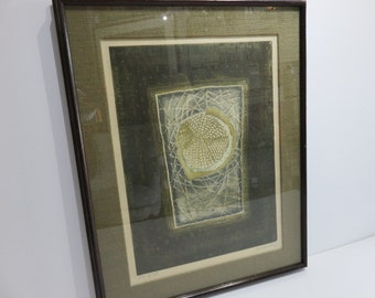 Abstract Artist Proof Etching By Suzanne Runacher.