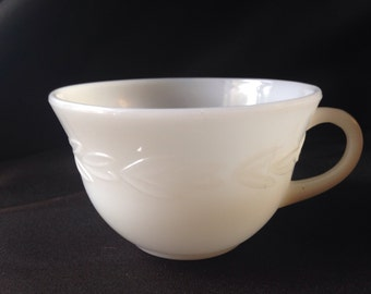 Vintage White Fire King Coffee Cup