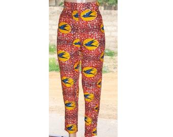 Ankara Women Trousers, Ankara Pants, African print pants, african clothing, women pants, high waist pants, Ankara trousers,